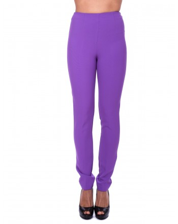 PINKO - Tamiri Trousers in elasticized crepes - Purple