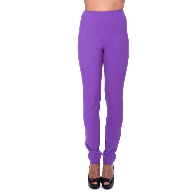 PINKO - Pantalone TAMIRI in crépe elasticizzato - Purple