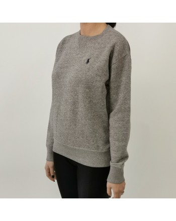 POLO RALPH LAUREN - Cotton sweater with logo - Grey