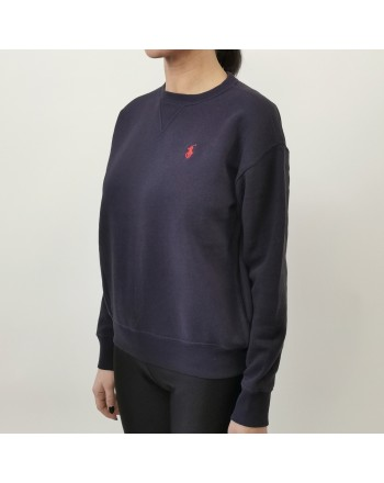 POLO RALPH LAUREN - Cotton sweater with logo - Navy