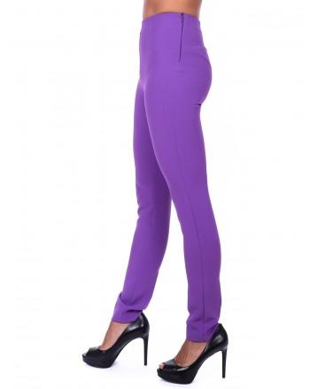 PINKO - Tamiri Trousers in elasticized crepes - Purple