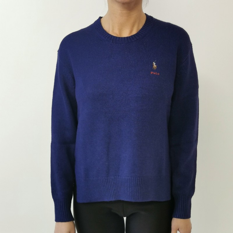 POLO RALPH LAUREN - Silk shirt with slits - Blue royal