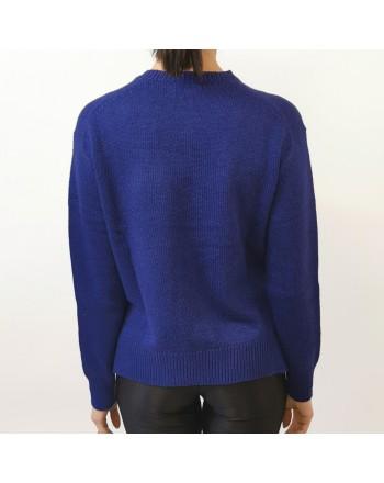 POLO RALPH LAUREN - Silk shirt with slits - Blue royal