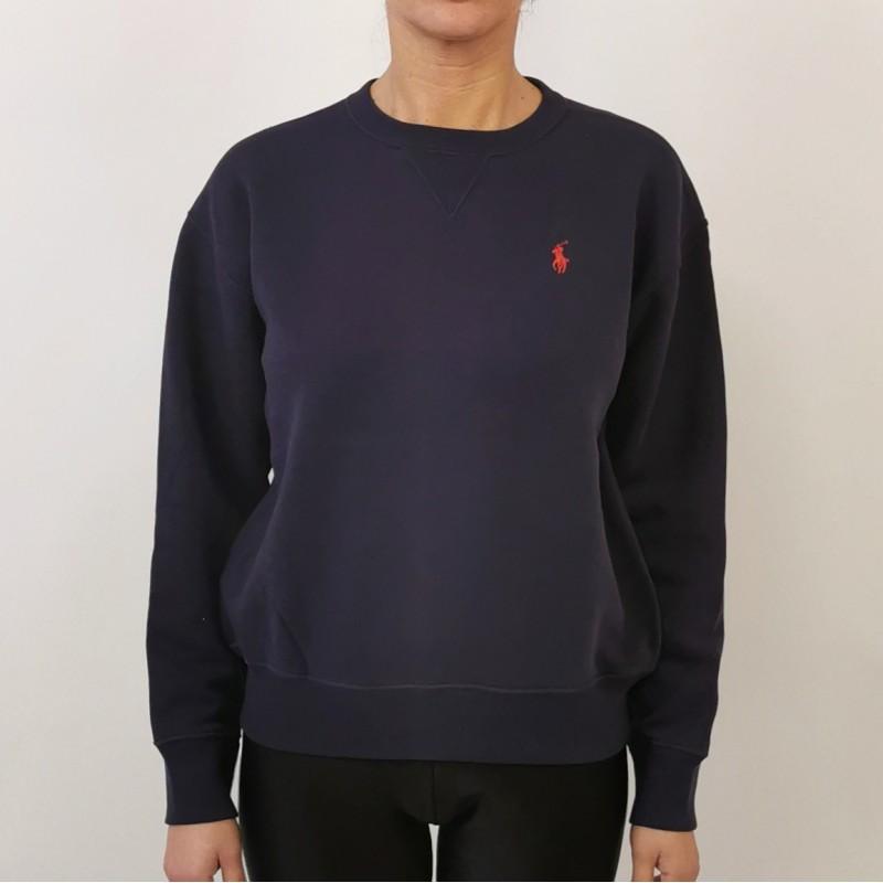 POLO RALPH LAUREN -  Maglia in cotone con logo - Navy