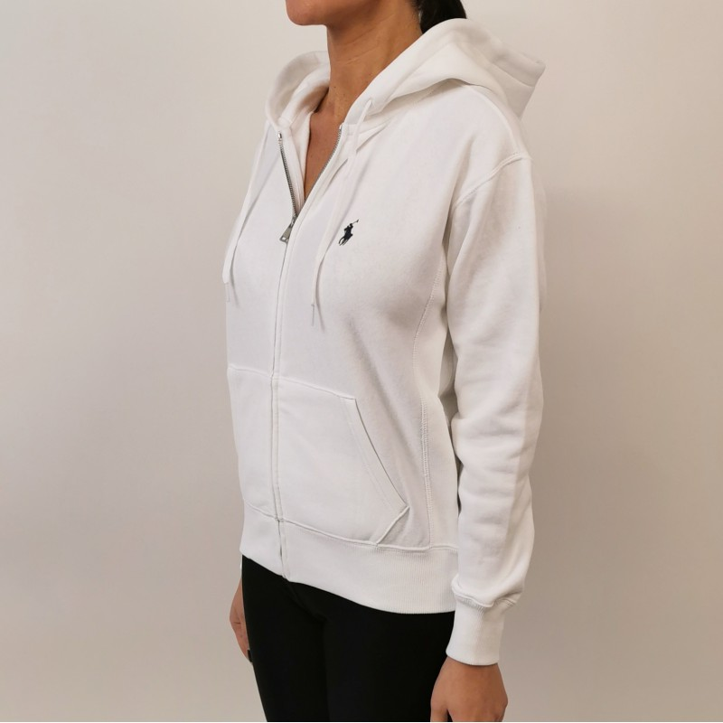 POLO RALPH LAUREN - Cotton sweatershirt with hood - White