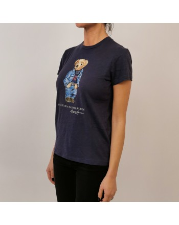 POLO RALPH LAUREN - T-Shirt in Cotone POLO BEAR - Blu