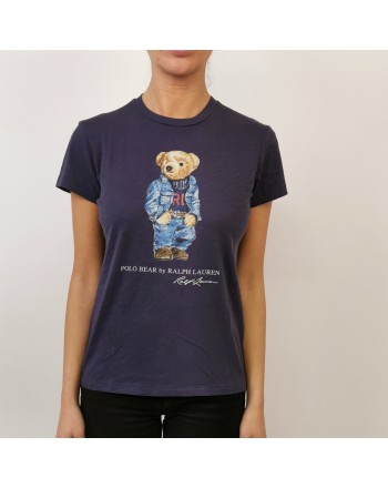 POLO RALPH LAUREN - Cotton POLO BEAR T-Shirt - Blue