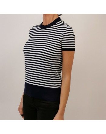 POLO RALPH LAUREN - Cotton Striped T-Shirt - Navy/White