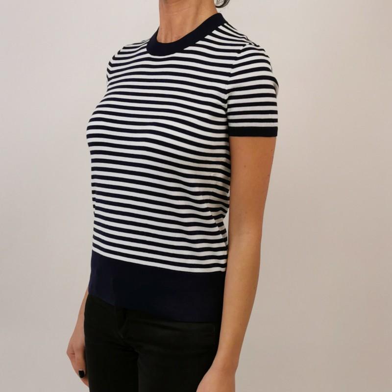 POLO RALPH LAUREN - Cotton Striped T-Shirt - Navy/White