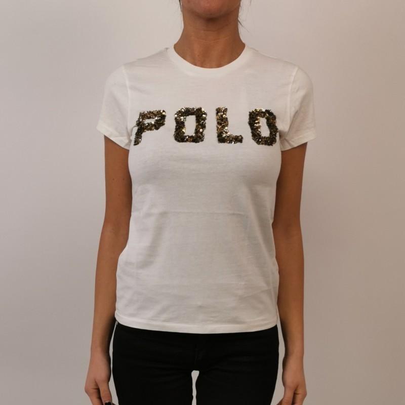 POLO RALPH LAUREN T Shirt Cotone POLO BEAR Blu [Donna] Elsa Boutique