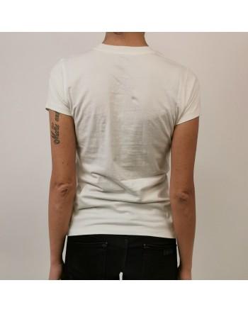 POLO RALPH LAUREN - T-Shirt in Cotone con Logo in Paillettes- Neve