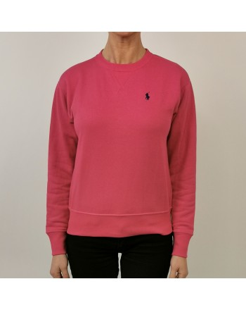 POLO RALPH LAUREN - Cotton Sweatshirt with Logo - Fuchsia