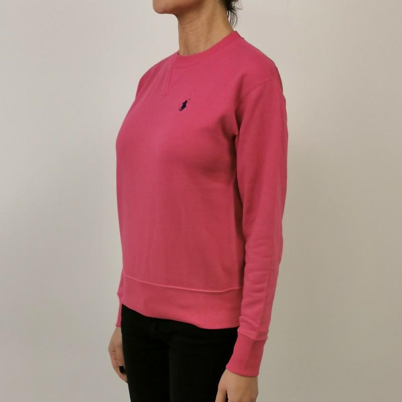 POLO RALPH LAUREN - Cotton Sweatshirt with Logo - Fuchsia