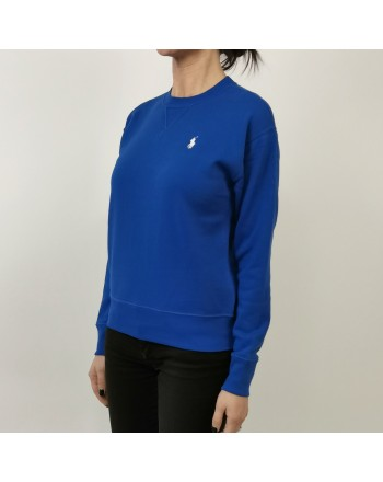 POLO RALPH LAUREN - Cotton Sweatshirt with Logo - Heritage Blue
