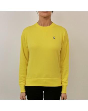POLO RALPH LAUREN - Cotton Sweatshirt with Logo - Yellow Crush