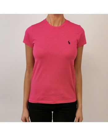 POLO RALPH LAUREN - Classic Cotton T-Shirt - Fuchsia