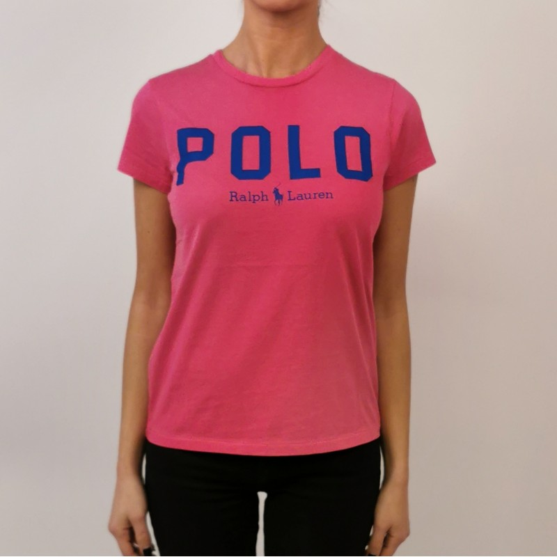 POLO RALPH LAUREN - Cotton Logo T-Shirt - Fuchsia