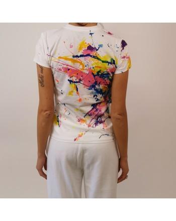 POLO RALPH LAUREN -  T-shirt paint splatter