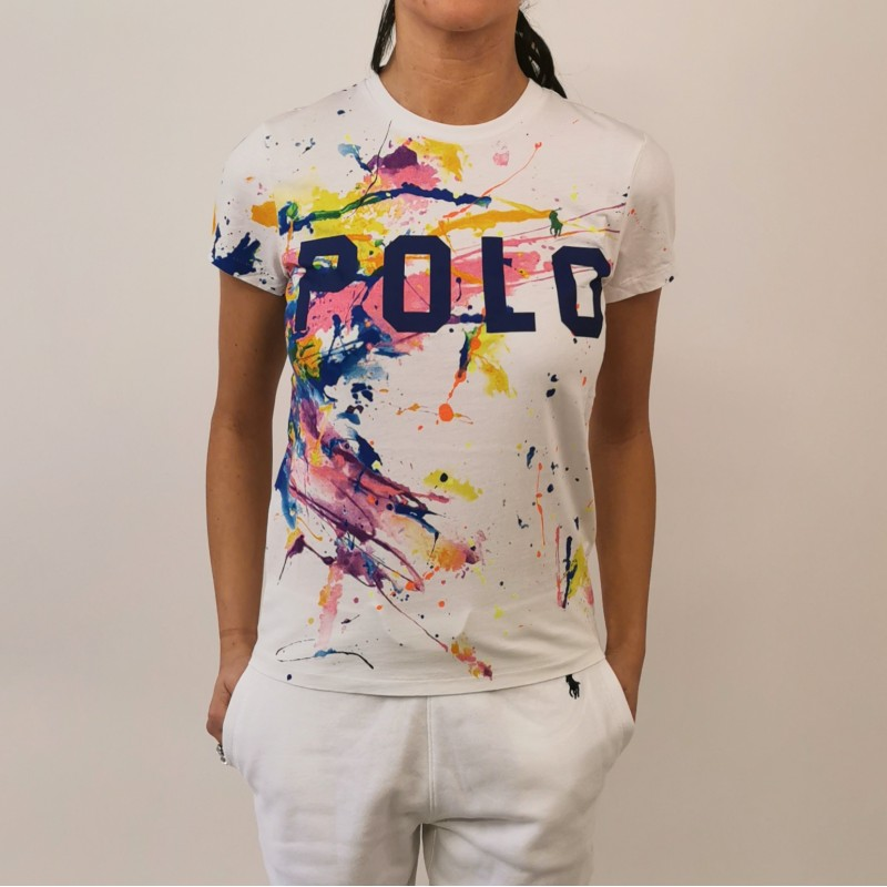 POLO RALPH LAUREN -  T-shirt paint splatter