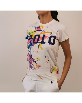 POLO RALPH LAUREN -  Paint splatter t-shirt