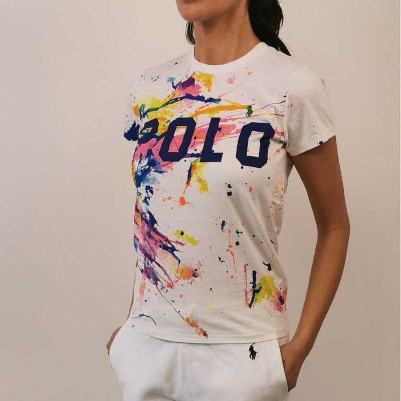POLO RALPH LAUREN -  Paint splatter t-shirt