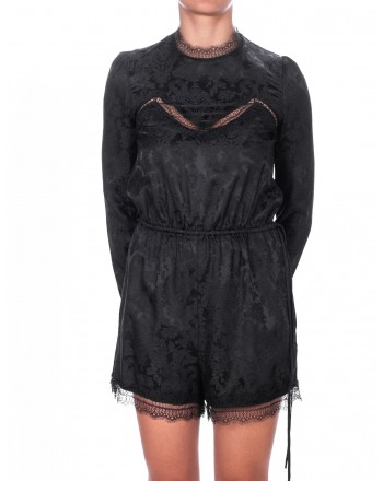 PINKO - Mini suit with jacquard and lace décor - Black