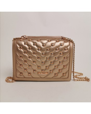 LOVE MOSCHINO -  Pounded shoulder bag - Copper color