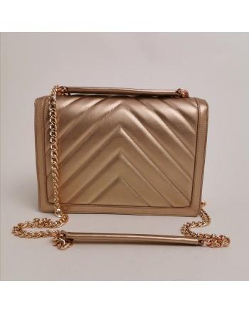 LOVE MOSCHINO -  Pounded shoulder bag - Copper color