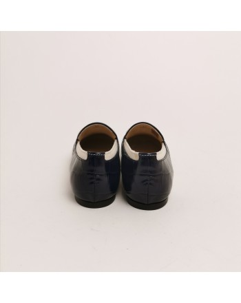 TOD'S - Leather and Cotton Loafers with Flat T - Marble