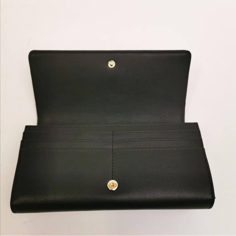 LOVE MOSCHINO -  Double metallic heart wallet - black