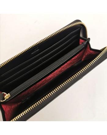 LOVE MOSCHINO -  Portafoglio con due cuori metallici chiusura zip