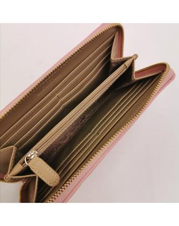 LOVE MOSCHINO -  Portafoglio con borchie a cuore - Cipria