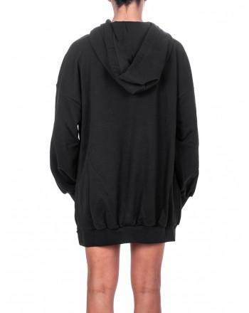 PINKO - Printed cotton dress - Black