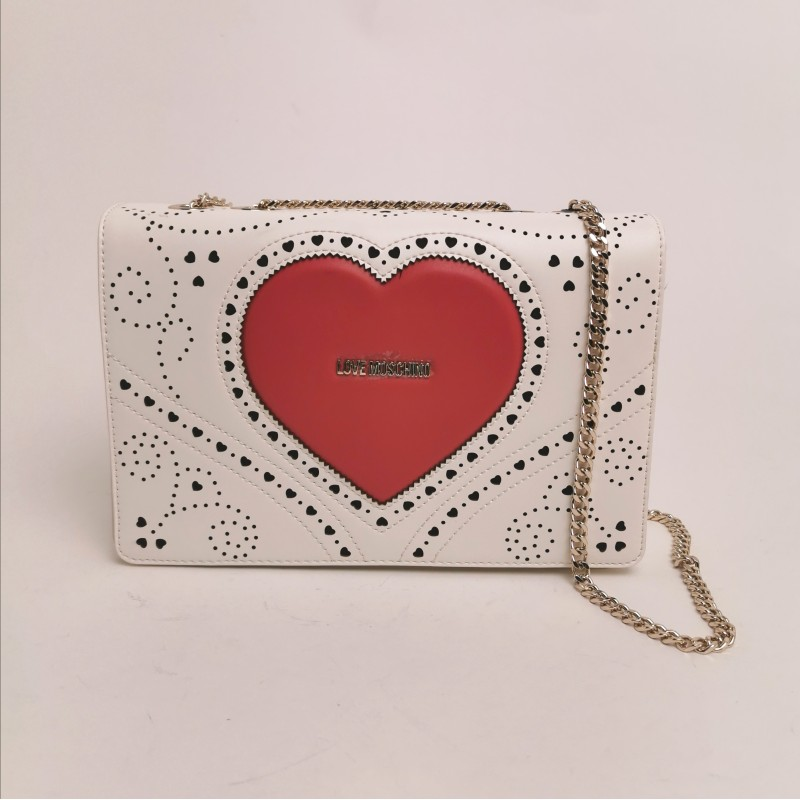 LOVE MOSCHINO - Stitched shoulder bag - white