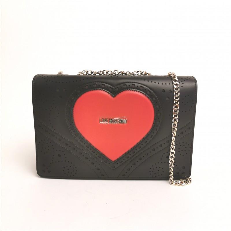 LOVE MOSCHINO - Stitched shoulder bag - white