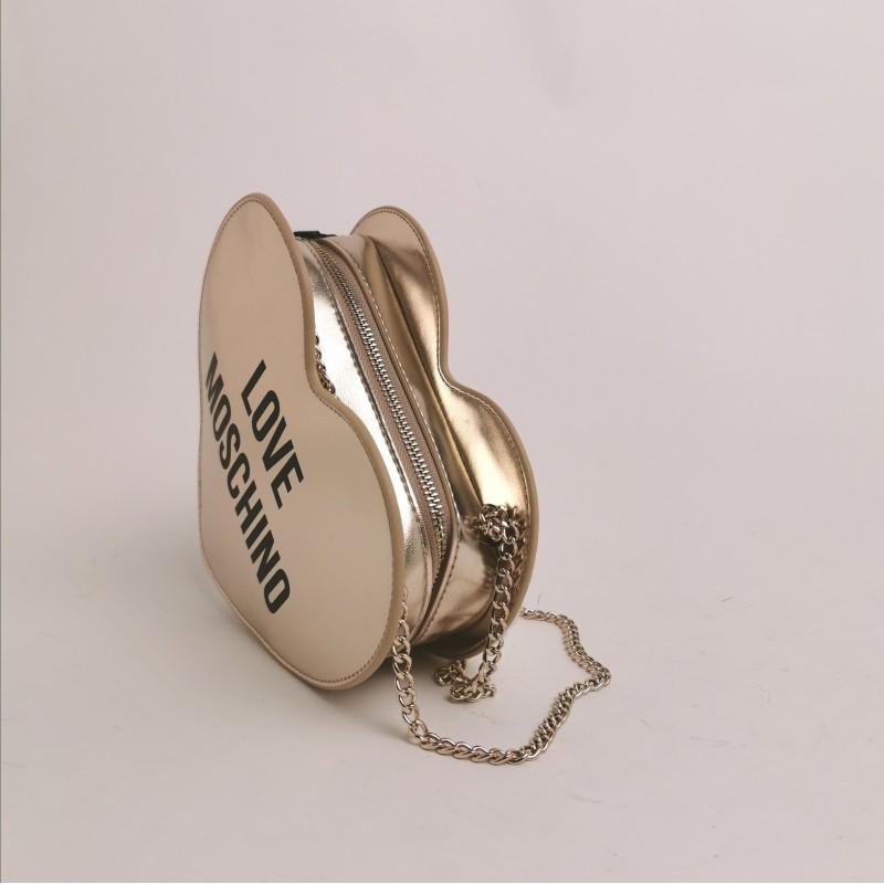 LOVE MOSCHINO - Heart shaped bag - Platinum