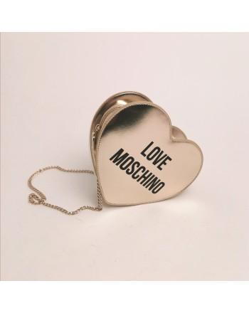 LOVE MOSCHINO - Borsa a cuore - Platino
