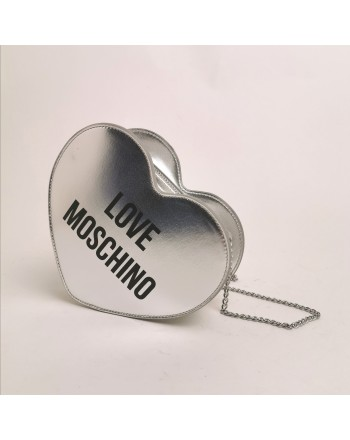 LOVE MOSCHINO - Heart shaped bag - Silver