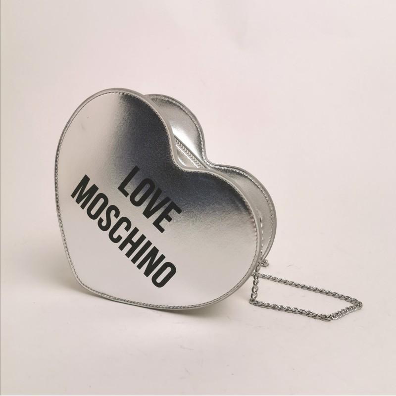 LOVE MOSCHINO - Heart shaped bag - Silver