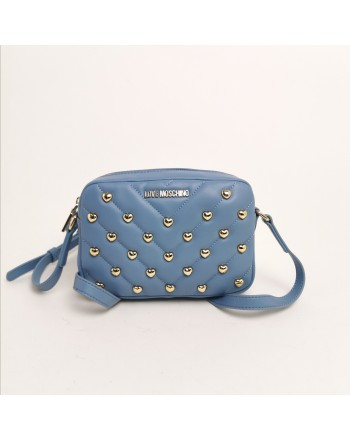 LOVE MOSCHINO -  Shoulder bag with studs - light blue