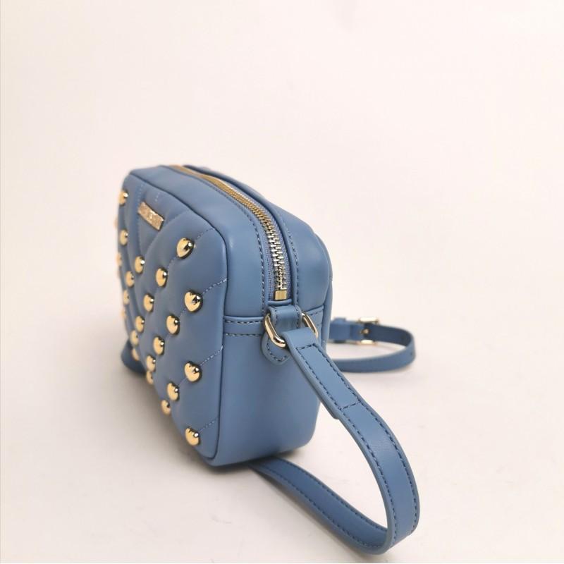LOVE MOSCHINO -  Borsa a tracolla con borchie - azzurro