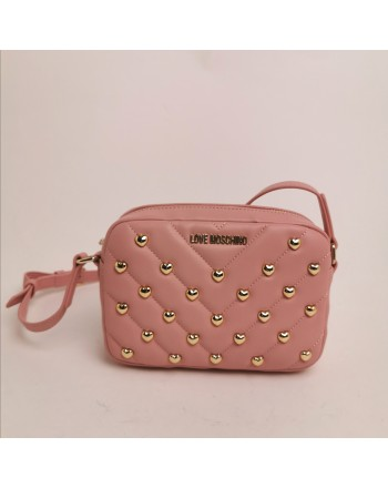 LOVE MOSCHINO -  Shoulder bag with studs - powder color