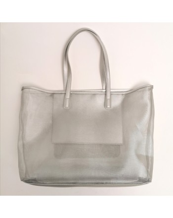 LOVE MOSCHINO - Mesh bag - Silver