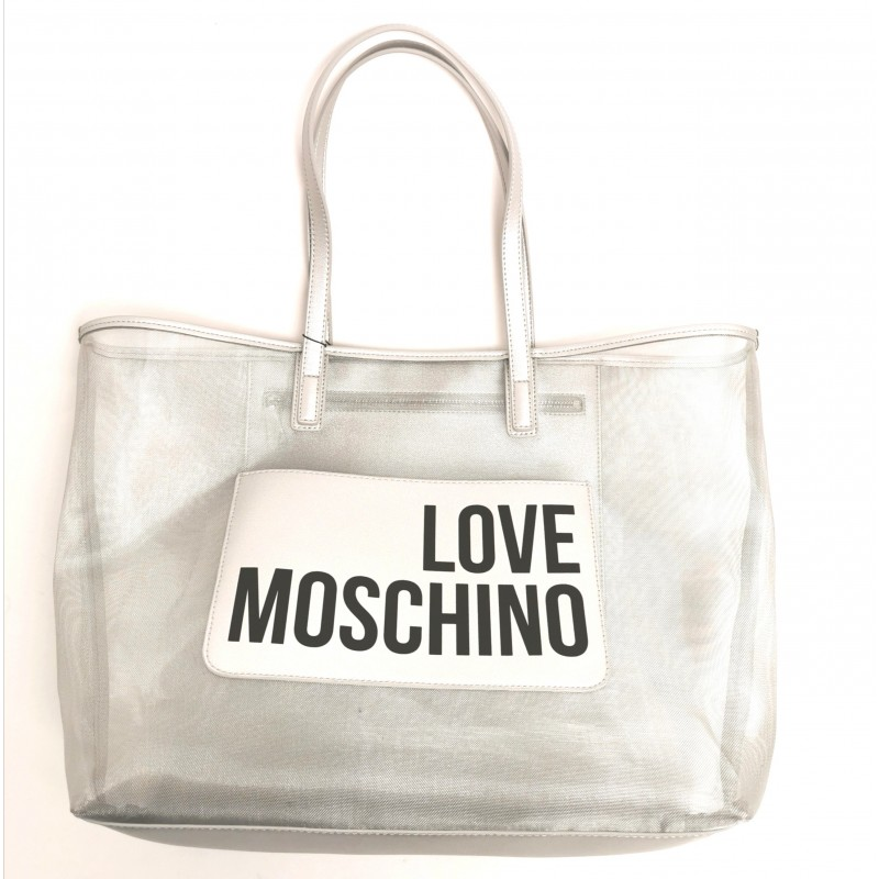LOVE MOSCHINO - Mesh bag - Silver