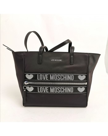 LOVE MOSCHINO - Borsa Shopping in tessuto tecnico - nero