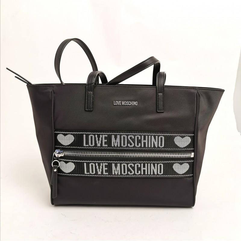 LOVE MOSCHINO - Tech fabric shopping bag - Black