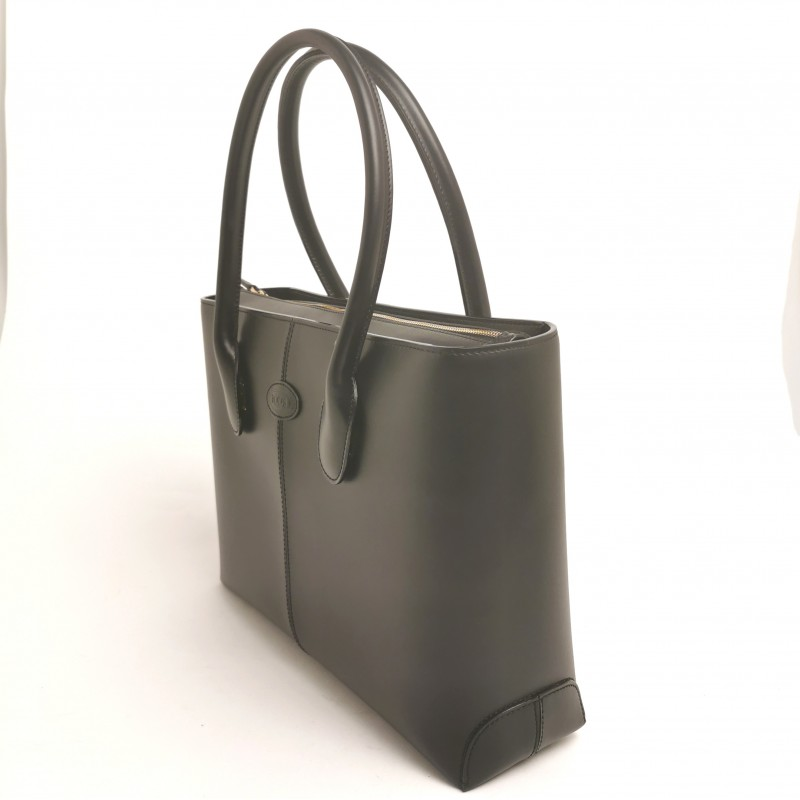 TOD'S - Leather Shopping medium Bag  - Black