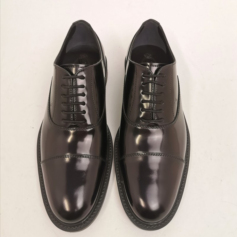 TOD'S - Leather Oxford Shoes -Black