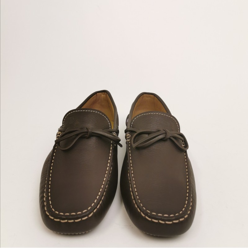 TOD'S - Leather Loafers with Laces - Dark Brown