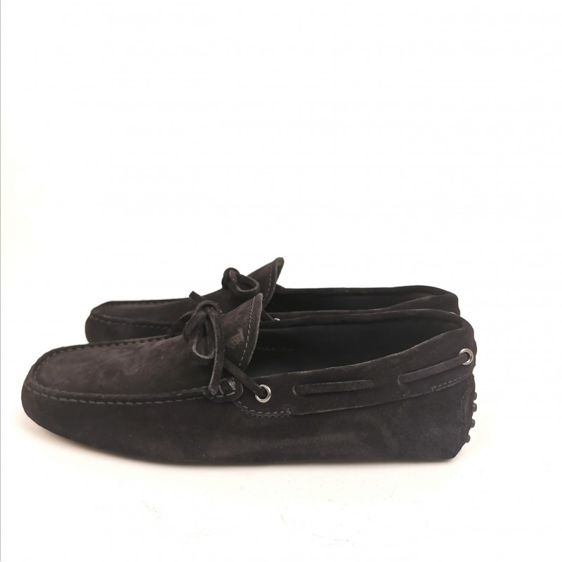 TOD'S - Suede New Laccetto Loafers - Black